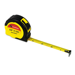 "Great Neck Tools ExtraMark Power Tape, 5/8"" x 12ft, Steel, Yellow/Black"