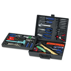 Great Neck Tools 110 Piece Home & Office Tool Kit, Drop Forged Steel Tools, Black Plastic Case