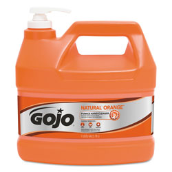 Gojo Natural Orange Pumice Hand Cleaner, Orange Citrus, 1gal Pump