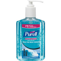 Purell Ocean Mist Instant Hand Sanitizer, 8oz Pump Bottle, Blue