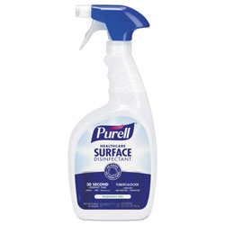 Purell Healthcare Surface Disinfectant, Fragrance Free, 32 oz Spray Bottle, 3/Carton