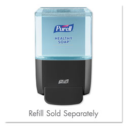 "Purell ES4 Soap Push-Style Dispenser, 1200mL, 4.88"" x 8.19"" x 11.38"", Graphite"