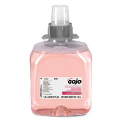 Gojo FMX-12 Luxury Foam Hand Wash, Cranberry, FMX-12 Dispenser, 1250mL Pump