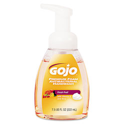Gojo Antibacterial Foaming Fruit Bottled Soap, 7.5 Oz