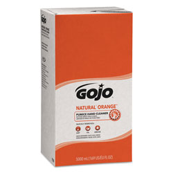 Gojo NATURAL ORANGE Pumice Hand Cleaner Refill, Citrus Scent, 5000mL, 2/Carton