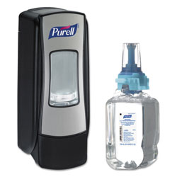 Purell ADX-7 Advanced Instant Hand Sanitizer Kit, 700mL, Manual, Chrome/Black, 4/CT