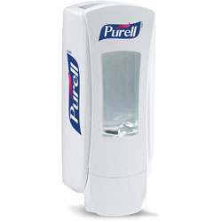 "Purell Hand Sanitizer Dispenser, 1200ml, 4.5""x4""x11.25"", White"
