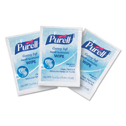 Purell Cottony Soft Individually Wrapped Sanitizing Hand Wipes, 5 x 7, White, 1000/CT