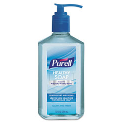 Purell Healthy Soap Clean and Fresh Scent, 12 oz Pump Bottle, 6/Pack