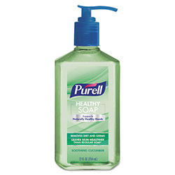 Purell Healthy Soap Soothing Cucumber Scent, 12 oz Pump Bottle, 6/Pack, 4 Pack/Carton