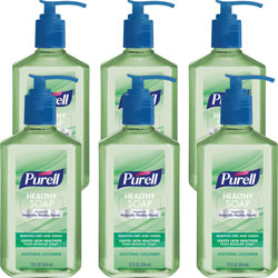 Purell Healthy Soap Soothing Cucumber Scent, 12 oz Pump Bottle, 6/Pack