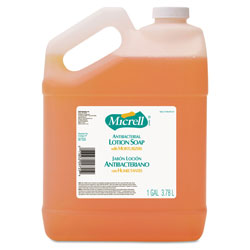 Gojo MICRELL Antibacterial Lotion Soap, Light Scent, Liquid, 1gal Bottle