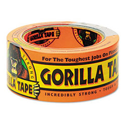"Gorilla Glue Black Extra-Thick All-Weather Gorilla Tape Duct Tape with 3"" Core, 1 7/8"" x 35 Yards"
