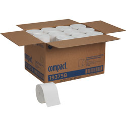 Georgia Pacific Compact Coreless Bath Tissue, 2-Ply, White, 1000 Sheets/Roll, 36/Carton
