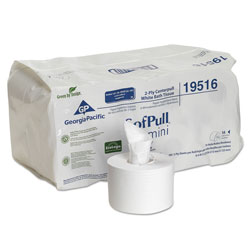 Sofpull Mini Centerpull Bath Tissue, 5 1/4 x 8 2/5, 500 Sheets, 16 Rolls/Carton