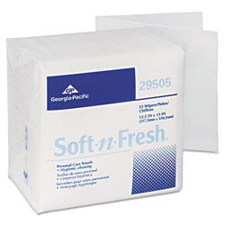 Georgia Pacific Sanitizing Wipes, 18 Packs of 55