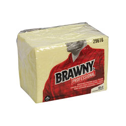 "Brawny Professional Disposable Dusting Cloth, 17"" x 24"", Yellow, 50/Pack, 4 Packs/CT"
