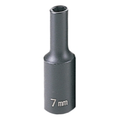 "Grey Pneumatic 3/8"" Drive Deep Metric Impact Socket - 7mm"