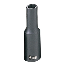 "Grey Pneumatic 3/8"" Drive Deep Metric Impact Socket - 9mm"