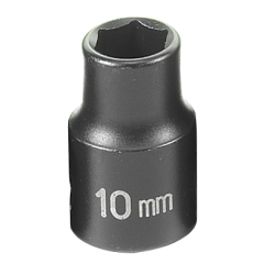 "Grey Pneumatic 3/8"" Drive Standard Metric Impact Socket - 10mm"