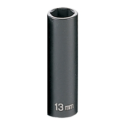 "Grey Pneumatic 3/8"" Drive Deep Metric Impact Socket - 13mm"