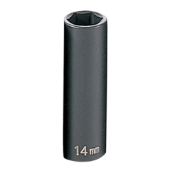 "Grey Pneumatic 3/8"" Drive Deep Metric Impact Socket - 14mm"