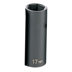 "Grey Pneumatic 3/8"" Drive Deep Metric Impact Socket - 17mm"