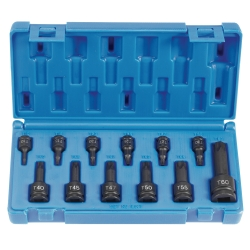 "Grey Pneumatic 12 Piece 1/4"", 3/8"" and 1/2"" Drive Internal Star Socket Set"