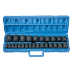"Grey Pneumatic 26 Piece 1/2"" Drive Metric Master Impact Socket Set"