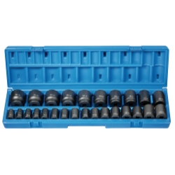 "Grey Pneumatic 26 Piece 1/2"" Drive 12 Point Metric Impact Socket Set"