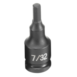 "Grey Pneumatic 3/8"" Drive Fractional Hex Driver Impact Socket - 7/32"""