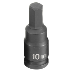 "Grey Pneumatic 3/8"" Drive Metric Hex Driver Impact Socket - 10mm"