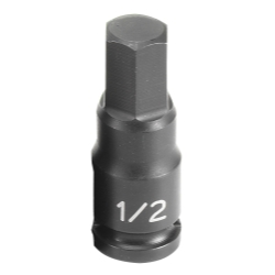 "Grey Pneumatic 3/8"" Drive Fractional Hex Driver Impact Socket - 1/2"""