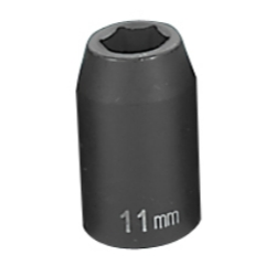 "Grey Pneumatic 1/2"" Drive Standard Metric Impact Socket - 11mm"