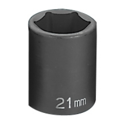 "Grey Pneumatic 1/2"" Drive Standard Metric Impact Socket - 21mm"