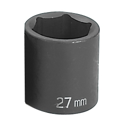 "Grey Pneumatic 1/2"" Drive Standard Metric Impact Socket - 27mm"