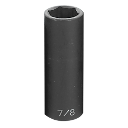 "Grey Pneumatic 1/2"" Drive Fractional Deep Impact Socket - 7/8"""