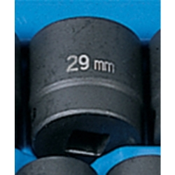 "Grey Pneumatic 1/2"" Drive Standard Metric Impact Socket - 29mm"