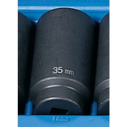 "Grey Pneumatic 1/2"" Drive Metric Deep Impact Socket - 35mm"