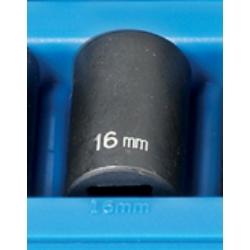 "Grey Pneumatic 1/2"" Drive 12 Point Metric Impact Socket - 16mm"