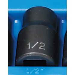 "Grey Pneumatic 1/2"" Drive 12 Point Fractional Impact Socket - 1/2"""