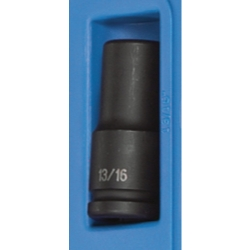 "Grey Pneumatic 3/4"" Drive 6 Point Deep Fractional Impact Socket - 13/16"""