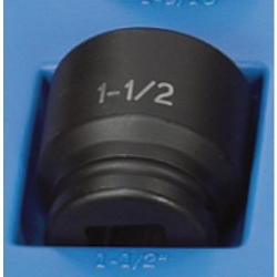 "Grey Pneumatic 3/4"" Drive 6 Point Standard Fractional Impact Socket - 1-1/2"""
