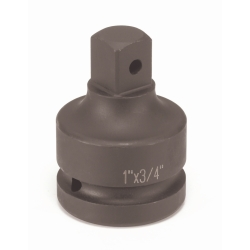 "Grey Pneumatic 1"" Drive Female x 3/4"" Male Square Drive Impact Socket Adapter with Pin Hole"