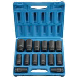 "Grey Pneumatic 14 Piece 3/4"" Drive 6 Point Deep Fractional Impact Socket Set"