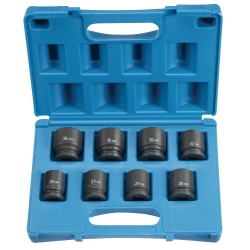 "Grey Pneumatic 8 Piece 3/4"" Drive 6 Point Metric Impact Socket Set"