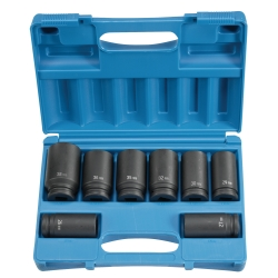 "Grey Pneumatic 8 Piece 3/4"" Drive 6 Point Deep Metric Impact Socket Set"