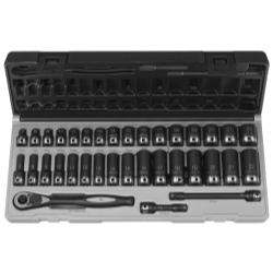 "Grey Pneumatic 35 Piece 3/8"" Drive Standard and Deep Metric 6 Point Duo-SocketSet"