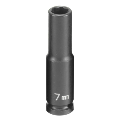 "Grey Pneumatic 1/4"" Drive 6 Point Metric Deep Impact Socket - 7mm"