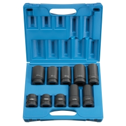 "Grey Pneumatic 10 Piece 1"" Drive 4 and 6 Point Truck Wheel Service Impact Socket Set"